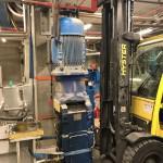 Plaatsing nieuwe motorreductor extruder